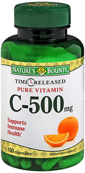 Nature's Bounty Vitamin C-500 mg Time Released Capsules - 100 Capsules