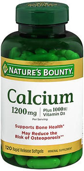 Nature's Bounty Calcium 1200 mg Per Serving Plus Vitamin D Softgels - 100 ct