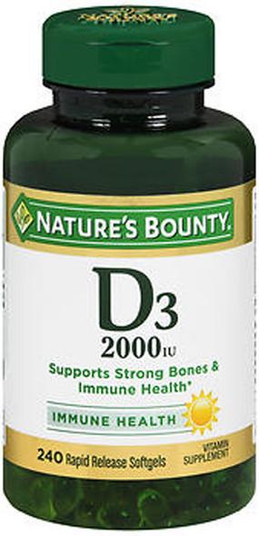 Nature's Bounty Super Strength D3-2000 IU - 200 Softgels