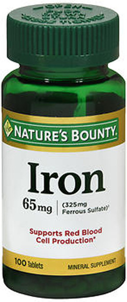 Nature's Bounty Iron 65 mg - 100 Tablets