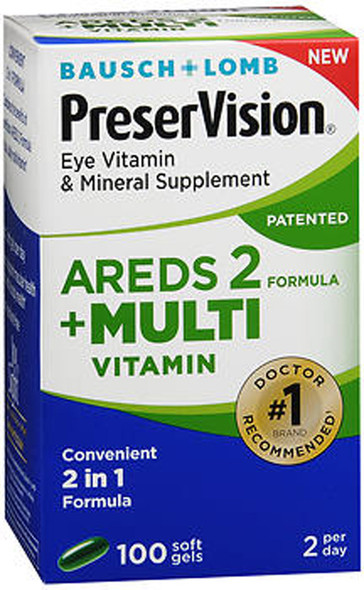 Bausch + Lomb PreserVision Eye Vitamin & Mineral Supplement Softgels - 100 ct