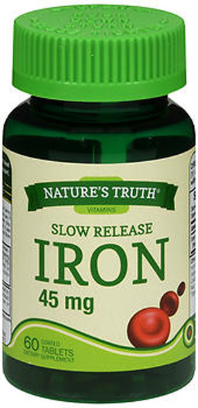 Nature's Truth Iron 45 mg Dietary Supplement - 60 Tablets