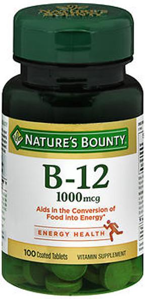Nature's Bounty Vitamin B-12 1000 mcg Supplement - 100 Tablets