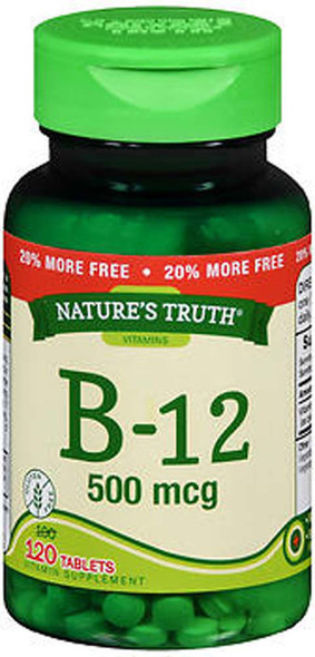Nature's Truth B-12 500 mcg - 120 Tablets