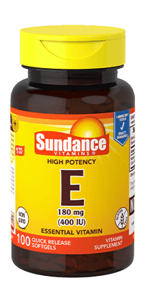 Sundance Vitamins High Potency E 400IU - 100 Softgels