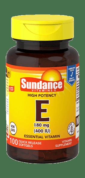 Sundance Vitamins High Potency E 400IU - 100 Softgels