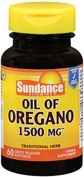 Sundance Vitamins Oil of Oregano 1500 mg Herbal Supplement Quick Release Softgels - 60 ct