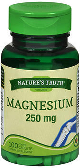 Nature's Truth Magnesium 250 mg Dietary Supplement - 100 Coated Caplets