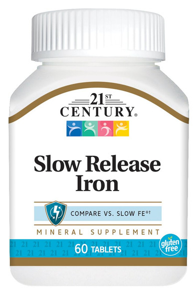21st Century Slow Release Iron Tablets - 60 ct