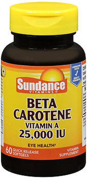 Sundance Beta Carotene Vitamin A 25,000 IU - 60 Softgels