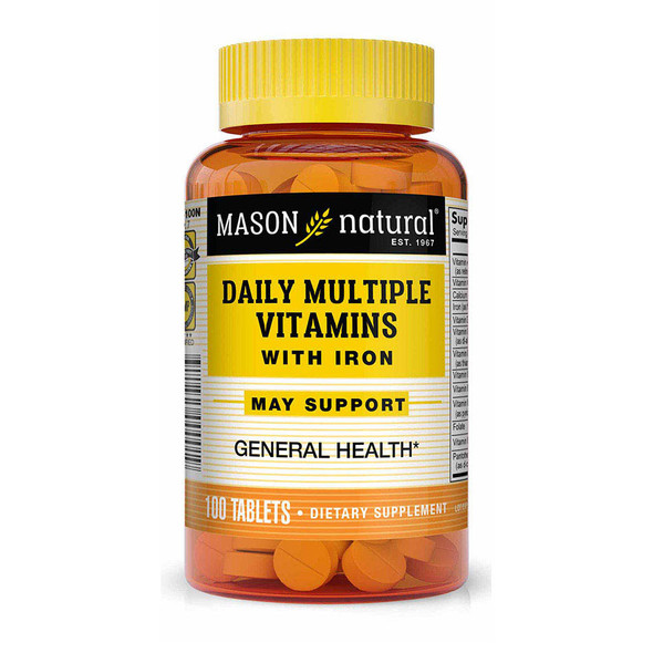 Mason Natural Daily Multiple Vitamin with Iron - 100 Tablets