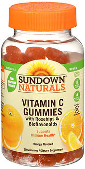 Sundown Naturals Vitamin C Gluten Free Gummies Delicious Orange Flavor - 90 ct