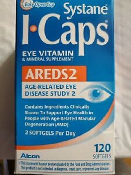 Icaps Areds 2 Eye Vitamin & Mineral - 120 Softgels