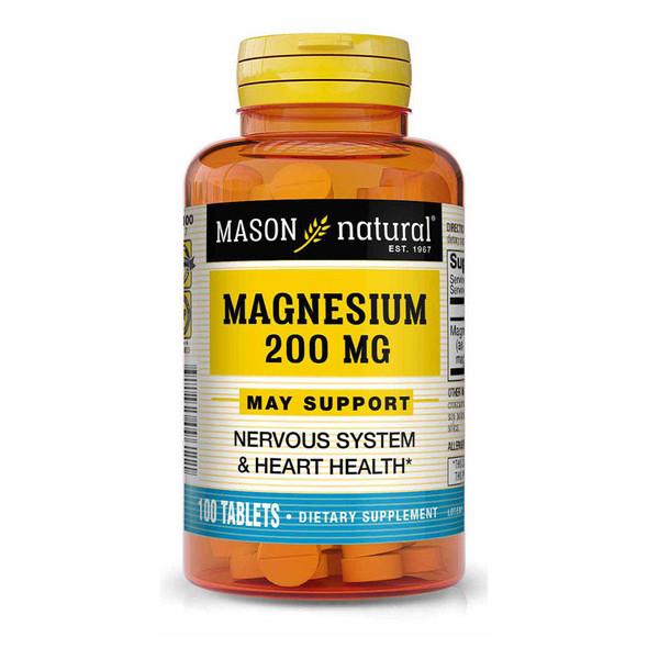 Mason Natural Magnesium 200 mg - 100 Tablets