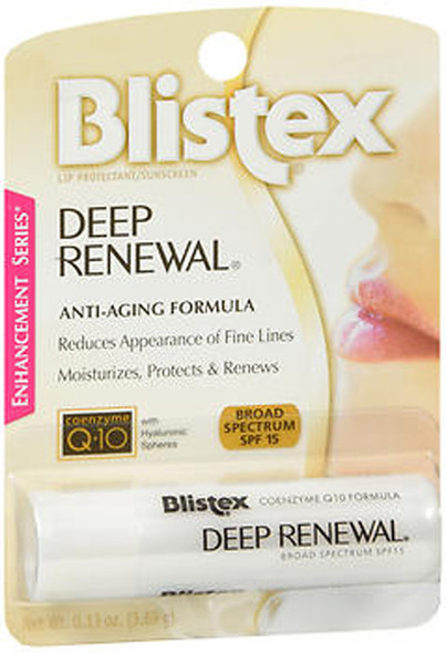 Blistex Deep Renewal Anti-Aging Treatment Lip Protectant/Sunscreen SPF 15 - 12 ct