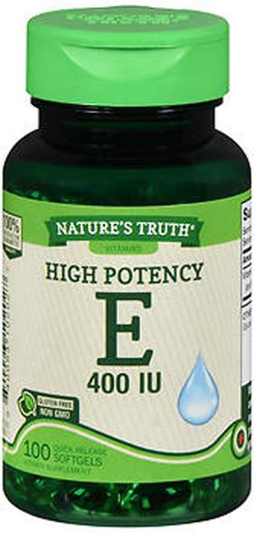 Nature's Truth High Potency Vitamin E 400 IU Quick Release Softgels - 100ct