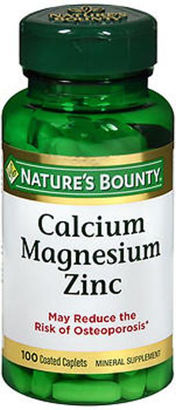 Nature's Bounty Calcium Magnesium Zinc - 100 Caplets