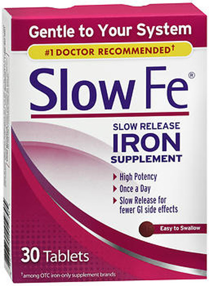 Slow Fe Slow Release Iron Supplement - 30 Tablets