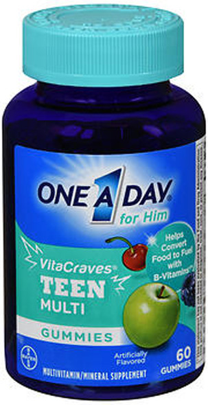 One A Day for Him VitaCraves Teen Multi Gummies - 60 ct