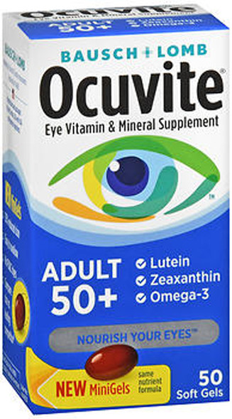 Ocuvite Eye Vitamin & Mineral Supplement, Adult 50+ - 50 ct