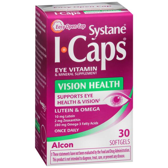 ICAPS Vision Health, Eye Vitamin & Mineral Supplement - 30 Softgels
