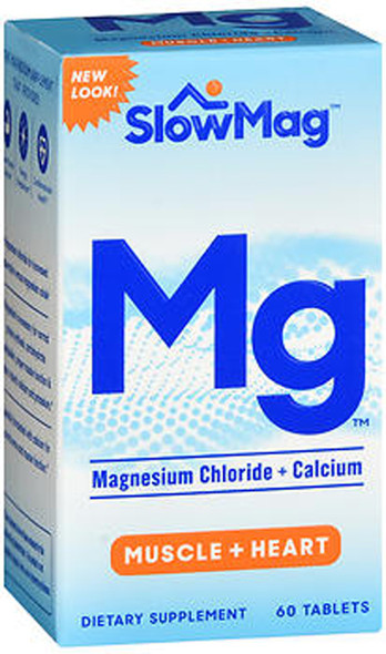 Slow-Mag Magnesium Chloride With Calcium - 60 Tablets