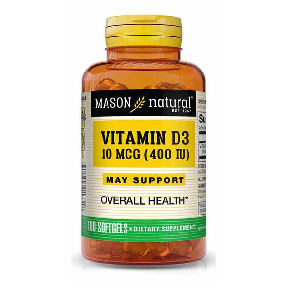 Mason Natural D 400 IU - 100 Softgels