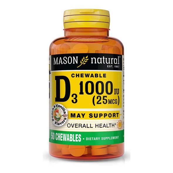 Mason Natural D 1000 IU Peach Vanilla - 50 Chewables