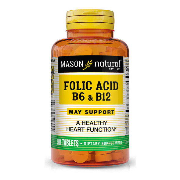 Mason Natural Folic Acid, B-6 & B-12 - 90 Tablets