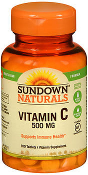 Sundown Naturals Vitamin C 500 mg Vegetarian Formula - 100 ct