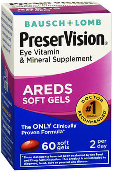 PreserVision AREDS Eye Vitamin & Mineral Supplement - 60 Softgels