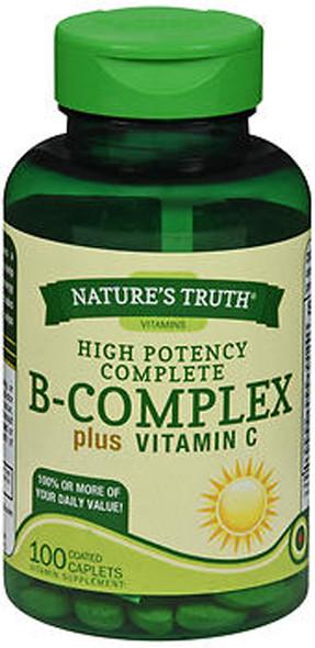 Nature's Truth B-Complex plus Vitamin C Vitamin Supplement - 100 Caplets