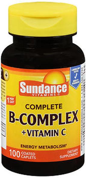 Sundance Vitamins Complete B-Complex + Vitamin C - 100 Coated Caplets