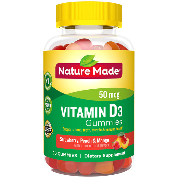 Nature Made Vitamin D3 Dietary Supplement Gummies - 90 Assorted Flavors