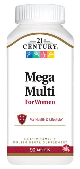 21st Century Mega Multi For Women - 90 Tablets