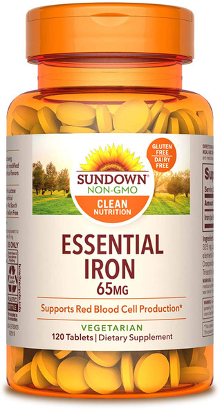 Sundown Naturals Iron 65 mg Tablets - 120 ct