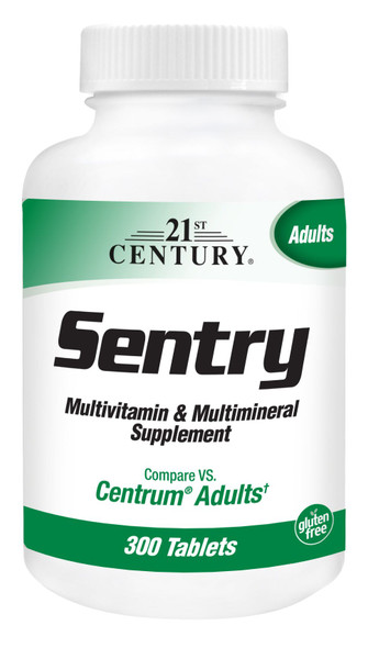 An image of a bottle of Sentry multivitamins from 21st Century, available at The Online Drugstore.