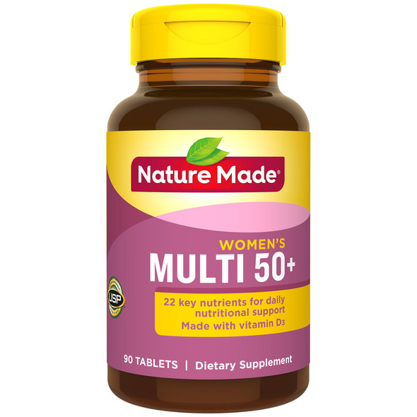 Nature Made Multi for Her 50+ Vitamin/Mineral - 90 Tablets
