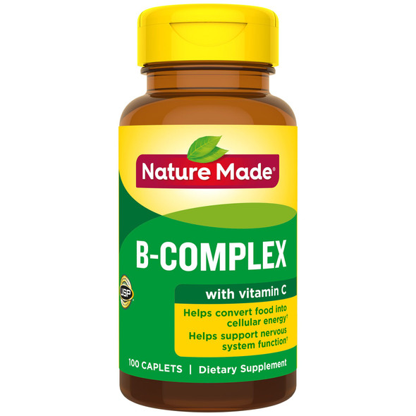 Nature Made B-Complex With Vitamin C Caplets - 100 ct
