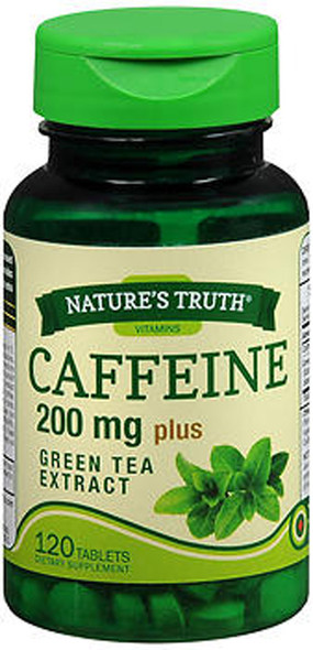 Nature's Truth Caffeine 200 mg Plus Green Tea Extract Tablets - 120 ct