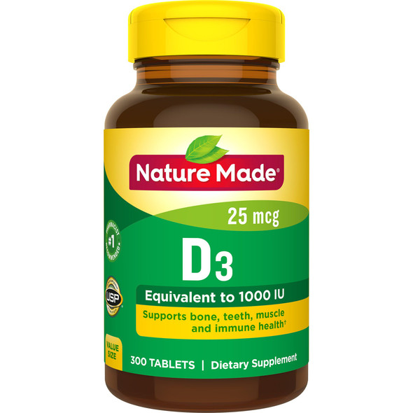 Nature Made D3 1000 IU - 300 Tablets