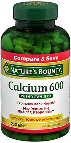 Nature's Bounty Calcium 600 With Vitamin D3 - 250 Tablets
