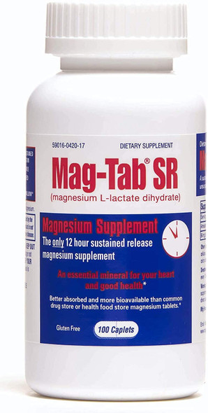 Mag-Tab SR Magnesium Supplement - 60 Caplets