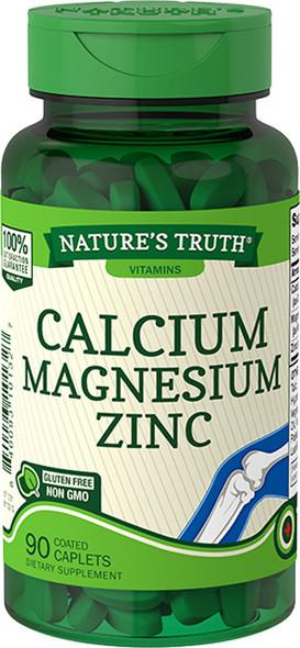 Nature's Truth Calcium Magnesium Zinc Coated Caplets - 90 ct