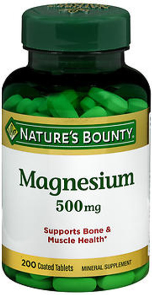 Nature's Bounty Magnesium 500 mg Maximum Strength - 200 Tablets
