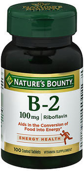 Nature's Bounty Vitamin B-2 100mg Supplement - 100 Tablets