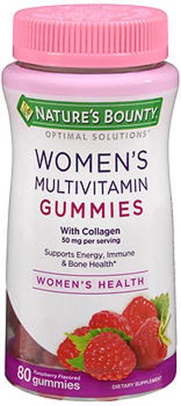Nature's Bounty Optimal Solutions Women's Multivitamin Gummies Raspberry Flavored - 80 ct