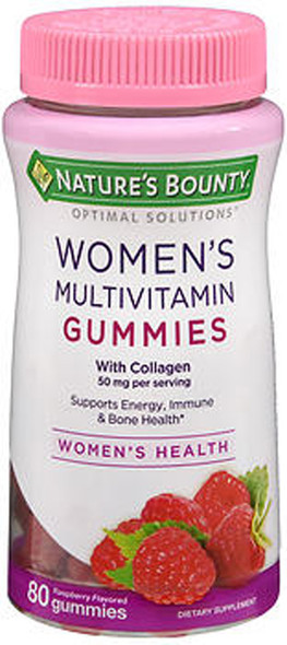 Nature's Bounty Optimal Solutions Women's Multivitamin Gummies Raspberry Flavored - 80 ct