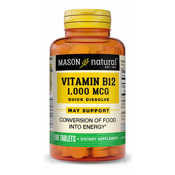 Mason Natural Vitamin B12 1,000 mcg Quick Dissolve Tablets - 100ct