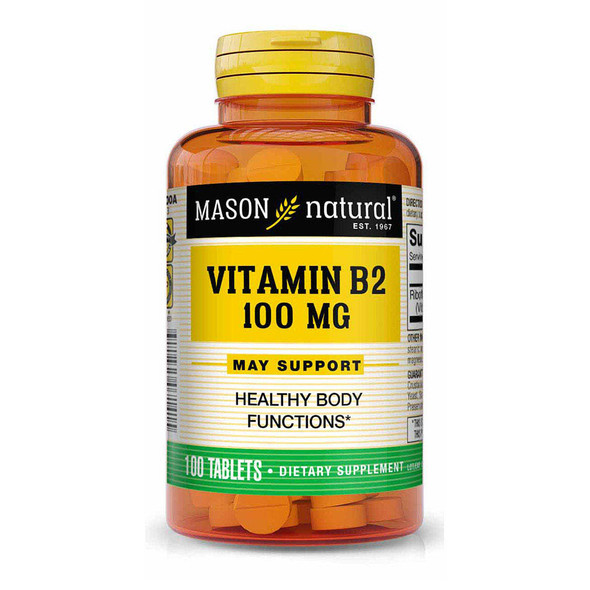 Mason Natural B-2 100 mg Tablets - 100 ct